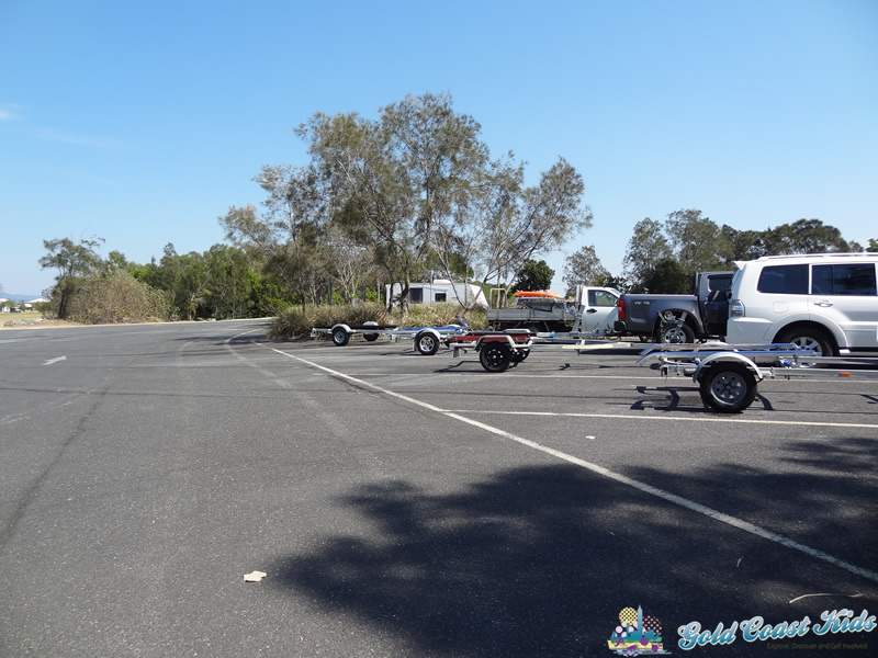 Photo of parking including disability and trailer spots at Lions Park Paradise Pointat lions Park Paradise Point