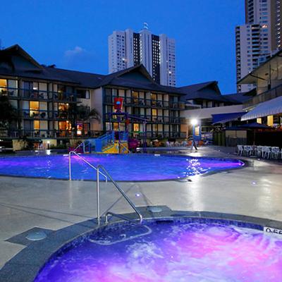 Photo of Pool and Spa at night